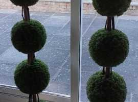 Pair Large Artificial Topiary Trees