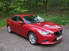Mazda MAZDA 6, 2014 (64) Red Saloon, Automatic Diesel, 131,000 miles,sat nav,Bluetooth ,