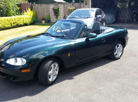 Mazda MX-5, 2002 (52) Green Convertible, Manual Petrol, 22,000 miles