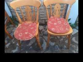 Two nice pine chairs