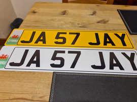 Number plate JA 57 Jay