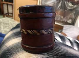 Leather tub
