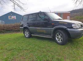 Nissan TERRANO SE TD, 2005 (55) black 4x4, Manual Diesel, 150000 miles