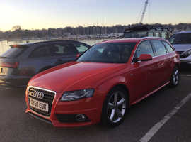Audi A4, 2010 (10) red estate, Automatic Diesel, 114 miles