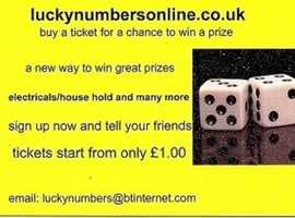 have a look in luckynumbersonline.co.uk for a chance to win great products