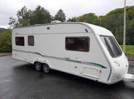 Bessacarr Cameo 4 berth twin axle luxury family caravan in excellent condition