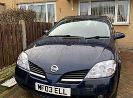 Nissan Primera, 2005 (55) Blue Hatchback, Manual Petrol, 144,000 miles