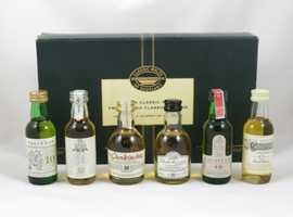 Six classic miniature malt whisky presentation pack