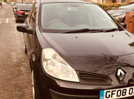 Renault Clio, 2008 (08) Black Hatchback, Manual Petrol, 48,105 miles