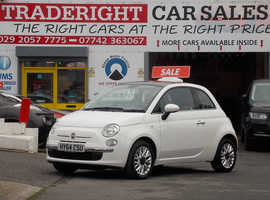 2014/64 Fiat 500 1.2 Lounge finished in White. 34,736 miles