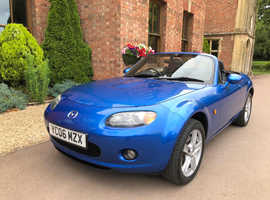 Mazda MX-5, 2006 (06) Blue Convertible, Manual Petrol, 55,680 miles