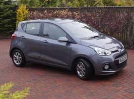Hyundai i10 Premium 1.2, 2016/66, Met grey, 5dr, 5sp, 6000miles, immac