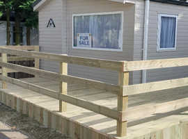 Last remaining Brand new holiday home for sale - price includes good size decking & skirting