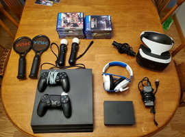 Ps4 Pro 1TB with VR, 2controllers  and 13 games