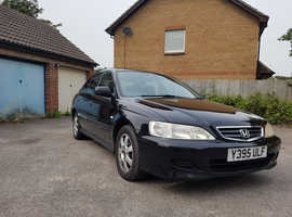 Honda Accord, 2001 (Y) Black, Automatic Petrol, 99,850 miles