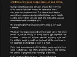 Children's Residential Care workers required!  Powys Region