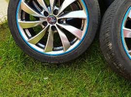 Wolf race alloy wheels