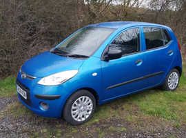 Hyundai i10, 2008 (08) Blue Hatchback, Manual Petrol, 47,425 miles