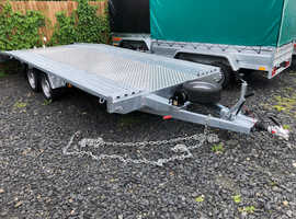 CAR TRANSPORTER TRAILER DOUBLE AXLE BRAKED 3000KG 5mx2.1m ( 16.7ft x 7ft)
