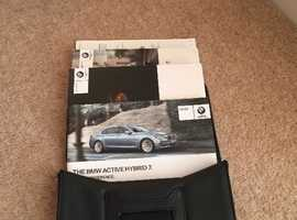 BMW 7 SERIES HYBRID OWNERS HANDBOOK PACK 2008-2015 F01-F04 MODELS
