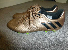 Adidas Gold Colour Football Boots Size 8