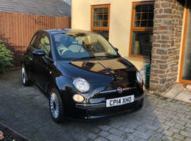 Fiat 500, 2014 (14) Black Hatchback, Manual Petrol, 35,000 miles