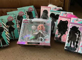 LOL Surprise O.M.G Dolls All 9 Varieties. Wave 1 & Wave 2, Crystal Star. Condition is New.