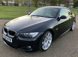 BMW 3 Series, 2008 (08) Black Coupe, Automatic Diesel, 124,154 miles