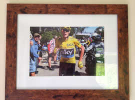 CHRIS FROOME YELLOW JERSEY AT THE TOUR DE FRANCE MULTIPLE GRAND TOUR WINNER HIGH GRADE QUALITY PIECE