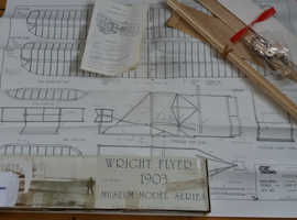 2 Balsa wood model aeroplanes. Wright Brothers and Robin.
