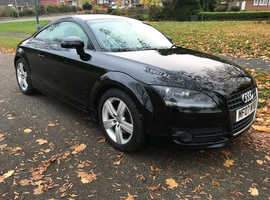 Audi TT, 2007 (07) Black Coupe, Manual Petrol, 92,095 miles
