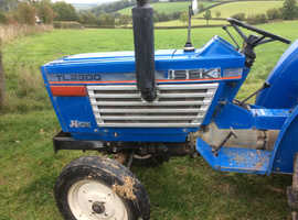 Iseki TL2300 small tractor complete with grass topper