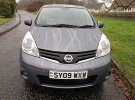 Nissan Note, 2009 (09) Grey MPV, Automatic Petrol, 53,800 miles