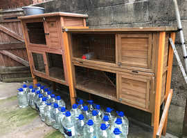 2 large rabbit hutches. Good condition.