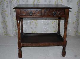 Dark Oak Priory Hall Table