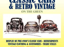 Vinatge Car Display and Vintage Stalls Near Maidstone, Kent.