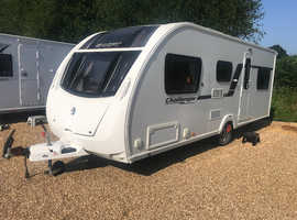 Swift Challenger GTS Sport 586 2013 6 Berth Fixed Bunk Beds Caravan + Motor Mover + Full Awning + Solar Panel + 3 Months Warranty Included