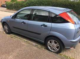 Ford Focus, 2004 (54) Blue Hatchback, Automatic Petrol, 28,000 miles