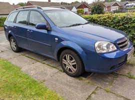 Chevrolet Lacetti, 2008 (08) Blue Estate, Manual Petrol, 67,000 miles