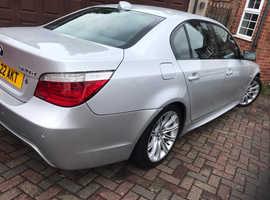 BMW 5 Series, 2008 (08) Silver Saloon, Manual Diesel, 133,000 miles
