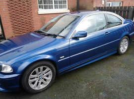 BMW 320CI SE, 2002 (02) Blue Coupe, Manual Petrol, 115,500 miles