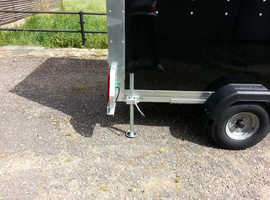 Box Trailer Tickners GP85 8' x 5' x 5' in Black Trailer with Barn Doors