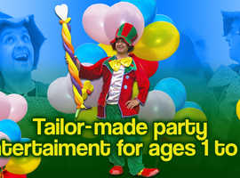 CLOWN CHILDRENS ENTERTAINER MAGICIAN MASCOTS SPIDERMAN balloon modeller Face Painter LONDON (north south east west