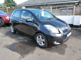 Toyota Yaris, 2010 (60) Black Hatchback, Manual Petrol, 109,000 miles