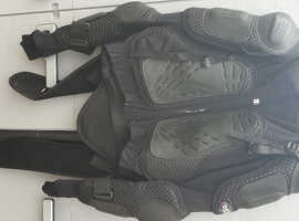 Used OSX  Motocross Body Armour Chest Spine Guard Quad Bike Off Road Jacket Black. Size XL