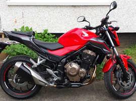 Honda CB500FA 2016 16 plate