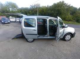 Wheelchair Access automatic Renault Kangoo New shape, 60 plate, 3 seats, low floor, ramp etc, Free onshore UK delivery