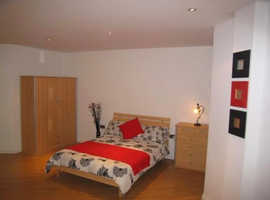 A spacious studio apartment in Salford Quays.