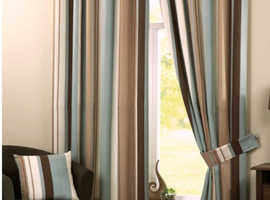 2 Pairs curtains with tie backs.  Each pair also priced individually for separate sale