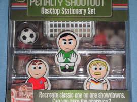 'Penalty Shootout' Desktop Stationery Set (new)